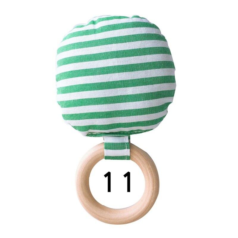 Новорожденный ребенок прорезыватель кольцо Жевательная Прорезыватель портативный ручной безопасная, из дерева натуральное кольцо детские зубы упражняющая игрушка подарок - Цвет: K