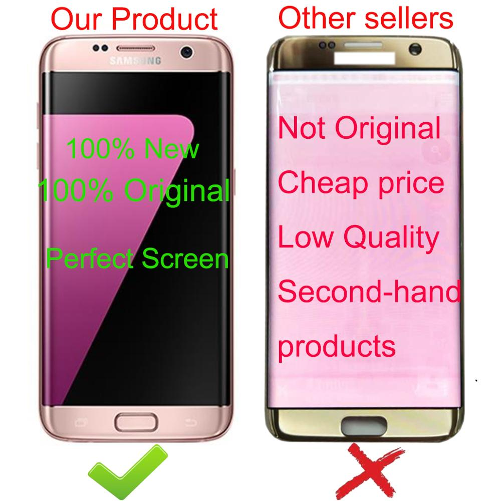 AAA ORIGINELE 5.5 ''SUPER AMOLED LCD met frame voor SAMSUNG Galaxy s7 edge G935 G935F Touch Screen Digitizer Display service Pack - 2