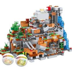 1315PCS Compatible My World Building Blocks Mountain Cave  Village Figures Module Bricks Toys For Children