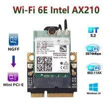 Banda dupla 2974mbps sem fio adaptador wi-fi 6e mini pci-e intel ax210 wifi cartão bluetooth 5.2 802.11ax 2.4g/5g/6g do que intel ax200
