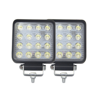 SHUOKE 48W Arbeit Licht 4800LM 6500K Combo IP67 4mm Bar Diecast Aluminium Gehäuse 1PCS 2PCS 4PCS Nebel Lampe für Verkauf