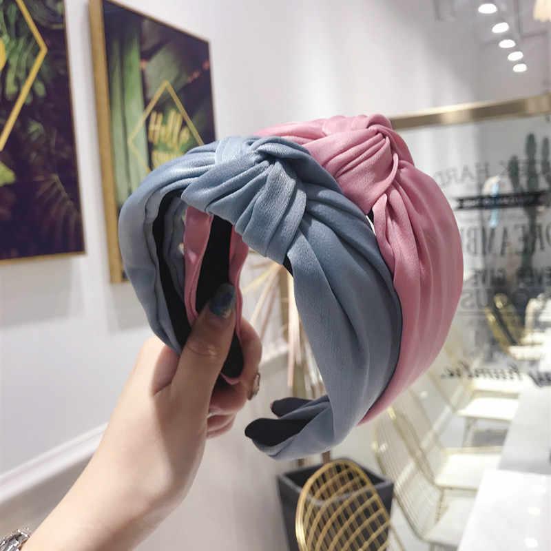 1 Phong Cách Thời Trang Nữ Cô Gái Chắc Chắn Ốp Viền Vintage Đô Đầu Nữ Cô Gái Túi Đeo Chéo Hàn Quốc Satin Phụ Kiện Tóc Mũ Đợi Đầu Đa Năng