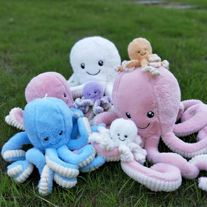Cartoon Lovely Simulation Octopus Pendant Plush Stuffed Toy Soft Animal Home Accessories Cute Animal Doll Children Birthday Gift