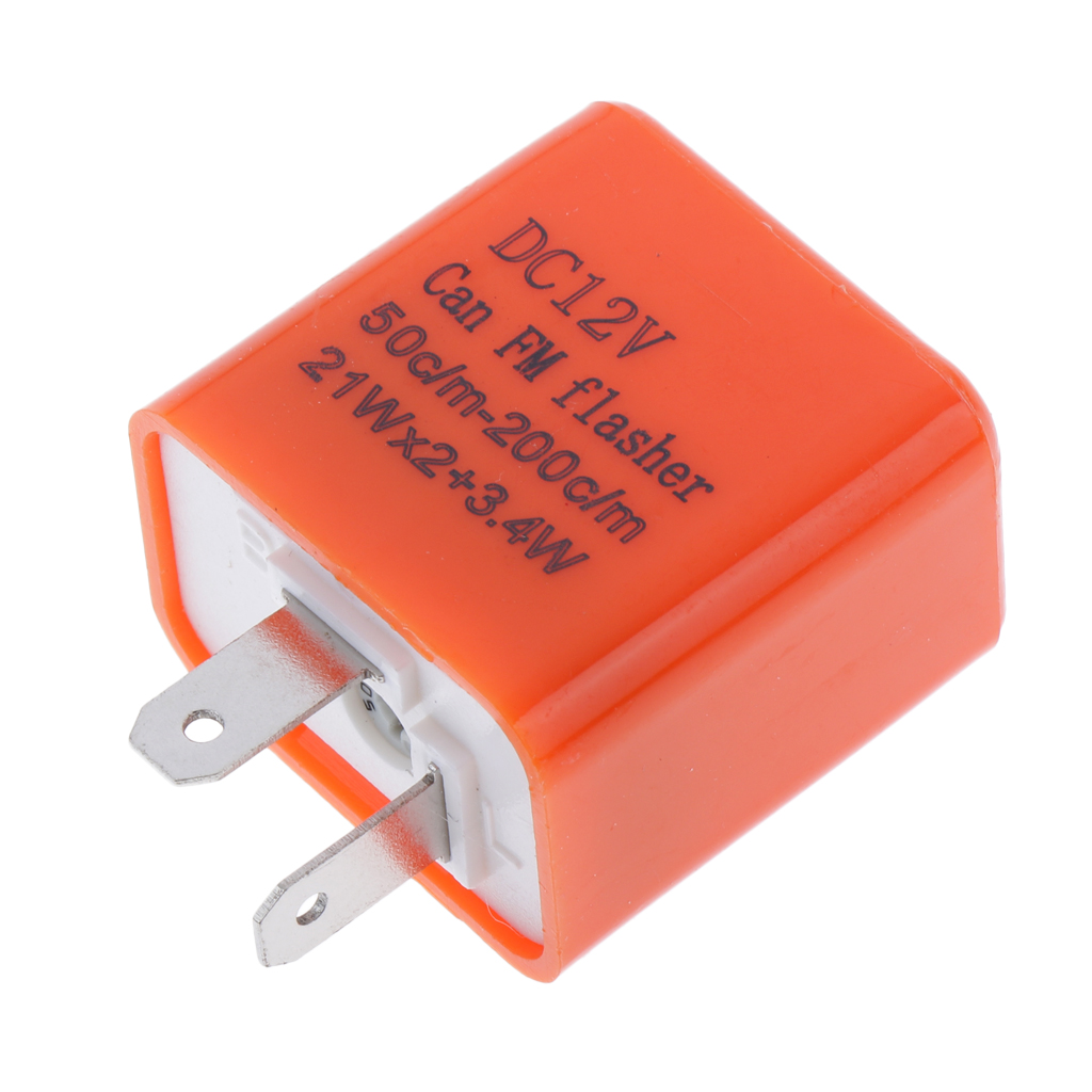 12V 2 Pin Frequency Adjustable Flasher Relay Motorcycle LED Light Electronic Turn Signal Flasher Indicator Flasher
