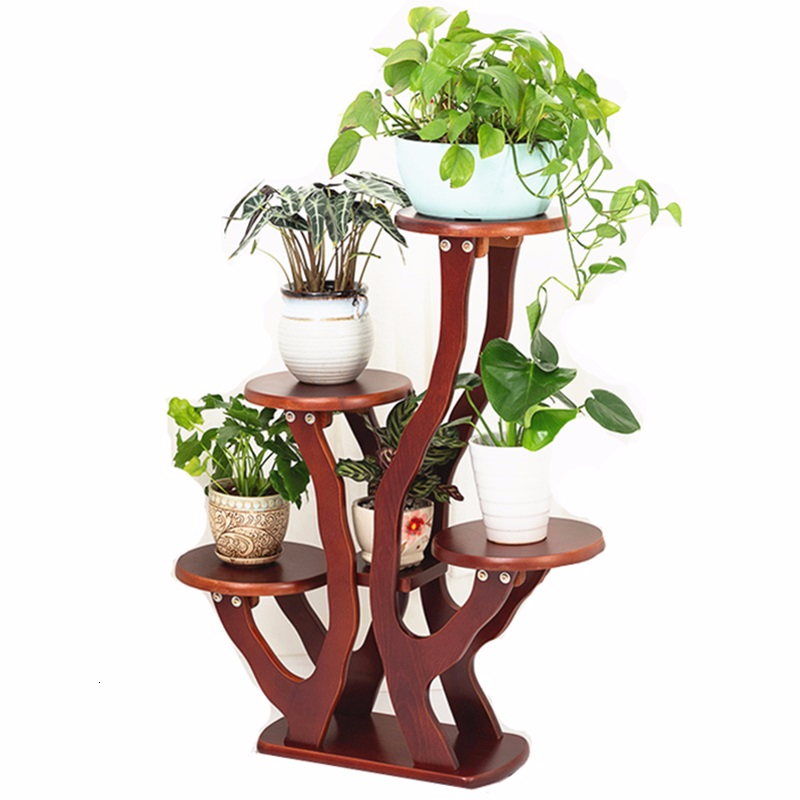 Flores Garden Shelves For Indoor Plant Pot Terraza Plantenrekken Stojak Na Kwiaty Balcony Shelf Dekoration Outdoor Flower Stand