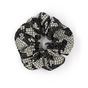 Image 5 - (50 Pieces/lot) Printed Retro Leopard Lattice Hair Rope Chiffon Fabric Elastic Hair Bands Flower Lady Hair Scrunchies