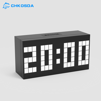 CH KOSDA Digital LED Alarm Table Clock Wall Room Digital Clock Calendar Date Temp Six Alarms Best Gift for Children New Fashion