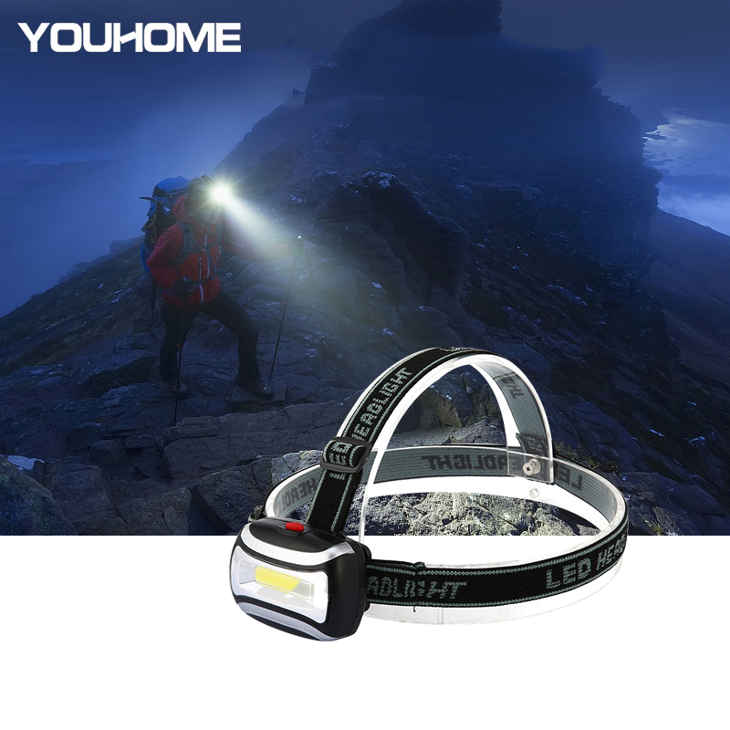 Dropshopping Mini COB LED Headlamp 3 Modes Waterproof Headlight 3xAAA For Outdoor Camping Hiking Fishing Light Free Shipping