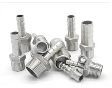 Stainless Steel Male BSP 1/8 1/2 1/4 3/4 Thread Pipe Fitting Barb Hose Tail Connector 6mm to 25mm Tools Accessory 1pcs ap045 yc6 2 3 4 5pin 6mm male