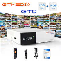 GTmedia GTC Satellite Receiver DVB-S2 DVB-C DVB-T2 ISDB-T Amlogic S905D android 6.0 TV BOX 2GB RAM 16GB ROM Freesat GTC 1Y CCCAM