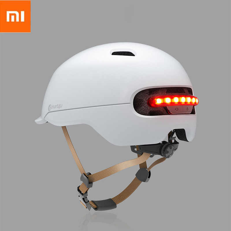 Xiaomi Smart4u Bicycle Smart Flash Helmets Men Women Safety Helmet Hat Back LED Light Mountain Road Scooter IPX4 Waterproof