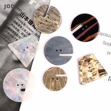 Модные пуговицы для шитья, декоративные для одежды, Женское пальто, костюм, жемчужная Золотая кнопка для рукоделия, для детей, 25 мм, 30 мм, 35 мм, пластик
