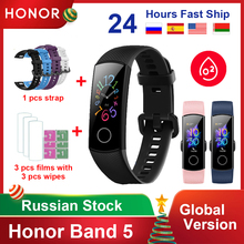 Originale Honor Band 5 4/4e versione globale ossigeno nel sangue Smart Band cardiofrequenzimetro impermeabile Fitness orologi da uomo bracciale