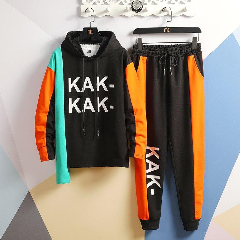 Men Autumn Tracksuits Sets Sweatshirts+Pants 2 Pieces Sets High Quality Men Hoode Sweatsuits Long Pants Jogger Suits For Men