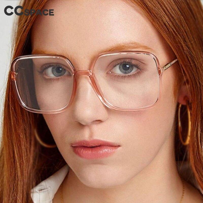 48091 Oversized Square Simple Plastic Titanium Glasses Frames Ultralight Men Women Optical Fashion Computer Glasses
