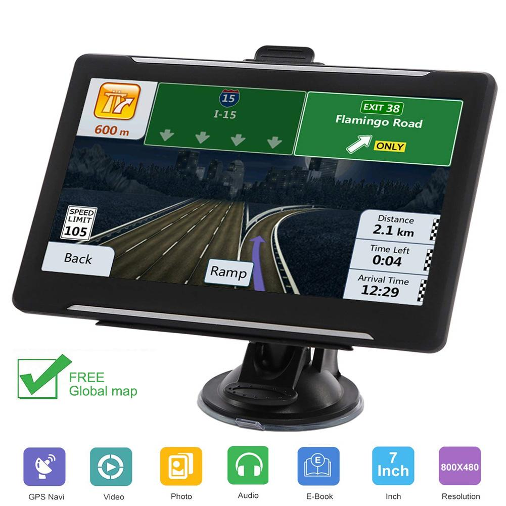 7 in Portable Car GPS Navigator 256 8GB HD Touch Screen Display GPS Satellite Navigation FM GPS With Global Map Windows CE 6.0 Vehicle GPS     - title=