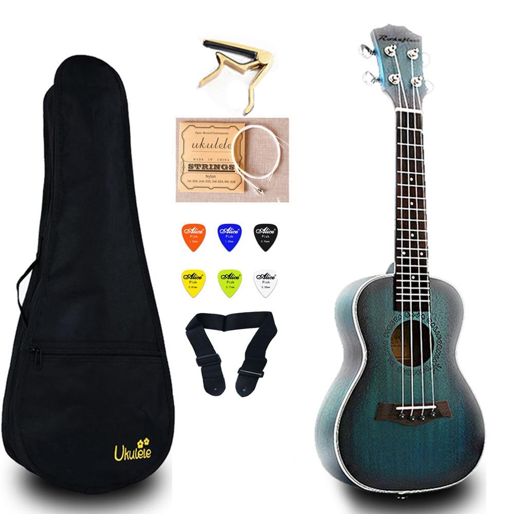 23 pouces Mini guitare Concert ukulélé électrique acajou Ukelele avec sac Capo chaîne sangle choix cadeau Hawaii guitare UKU UK2329A