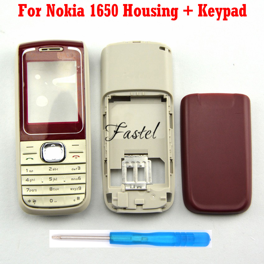 For <font><b>Nokia</b></font> <font><b>1650</b></font> replacement parts High Quality New Full Complete Mobile Phone housing cover case+Keypad+Tools, free shipping image