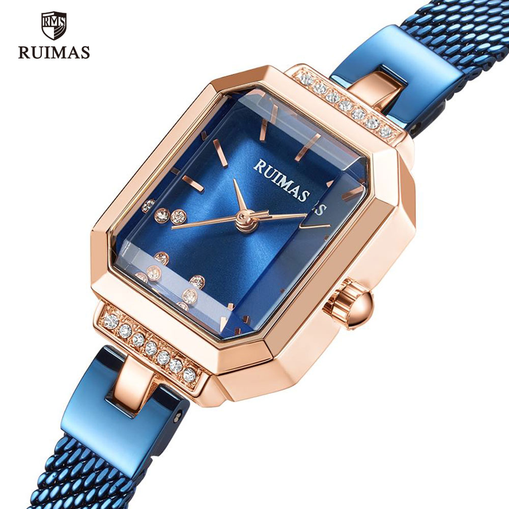 RUIMAS Women's Quartz Watches Mesh Strap Simple Analog Wristwatch Woman Ladies Luxury Top Brand Watch Relogio Feminino Clock 579