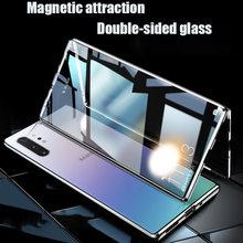 Çift taraflı manyetik adsorpsiyon kılıfı Samsung Galaxy S20 S10 not 8 9 10 S8 S9 artı S20 Ultra S10E a50 A70 A51 A71 A81 kılıfları