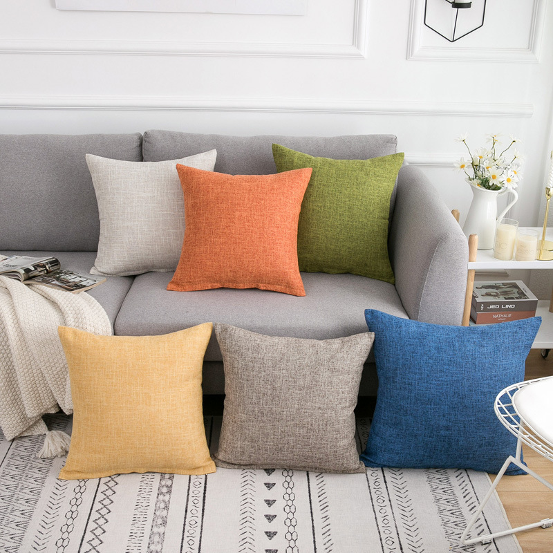 Yaapeet Pillow Cover Solid Color Pillow Cases Home Decor Polyester Fabric Body Pillow Case Home Decoration Accessories