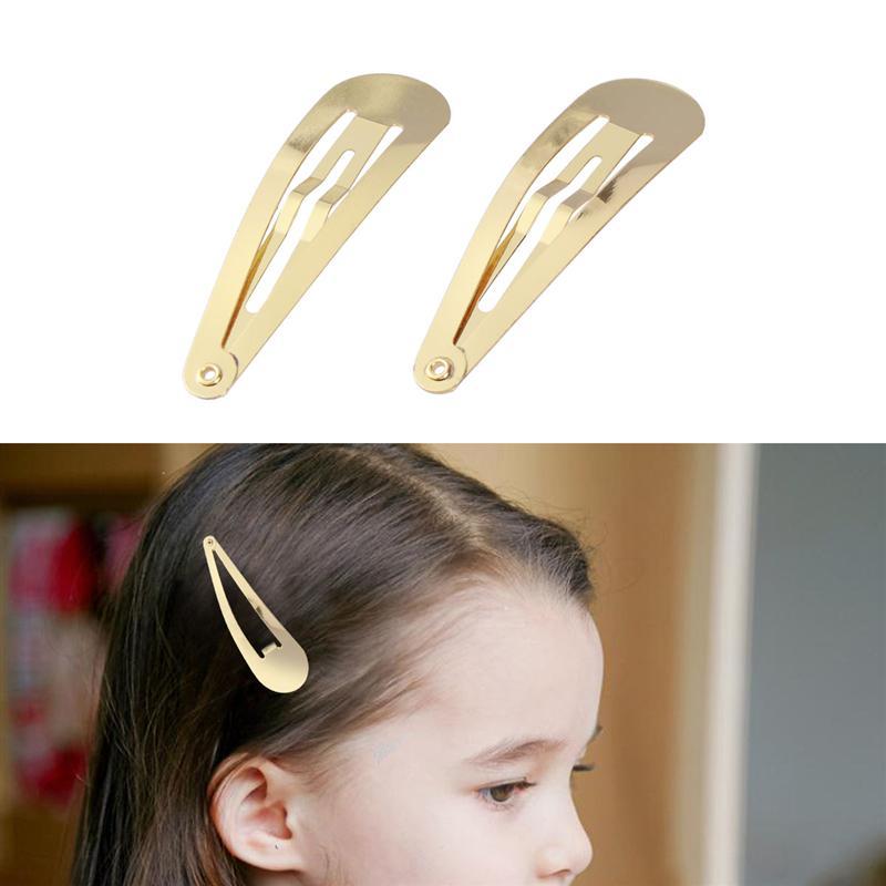 Простая заколка для волос из розового золота, 4,8 см, 50 шт.