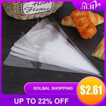 Bolsa desechable para manga pastelera, accesorios de decoración para pastel y pastelillo, 50 Uds.