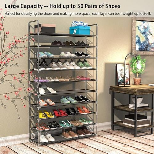 Rack-Stand Shelf-Holder Storage-Organizer Shoes Closet Fabric Stackable Us Warehouse