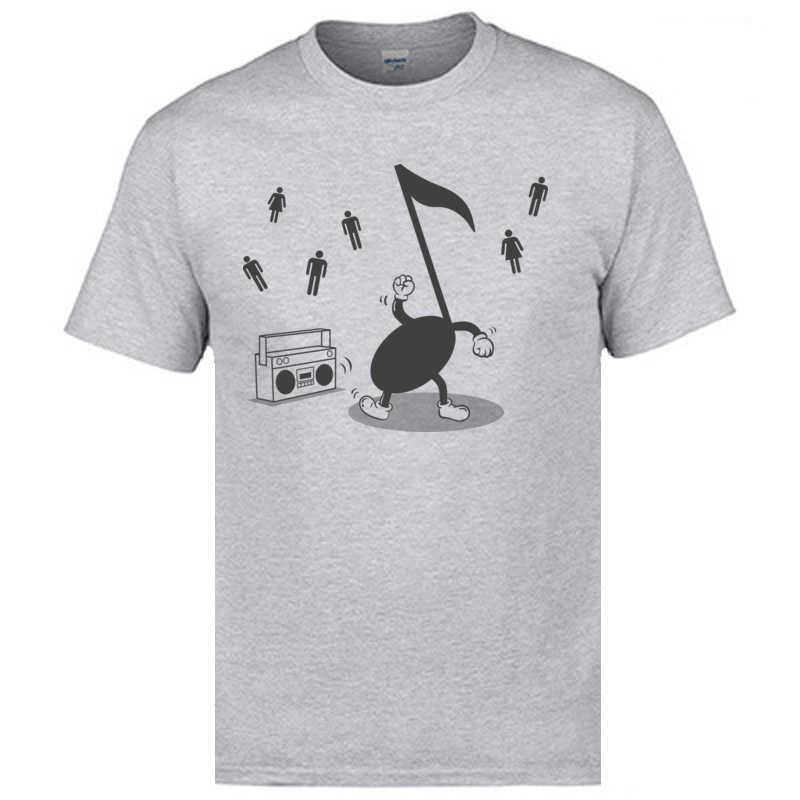 Xxxl Faddish T Shirts Musik Maschine Hinweis Glücklich Dance Männer Lustige T-Shirts Sommer Neue Stil Baumwolle T Shirts Hip Hop rock