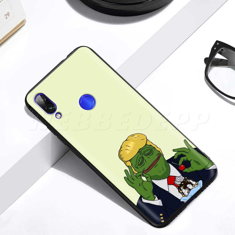 Meme Puas Katak Pepe Case untuk Xiaomi Redmi 4A 4X5 5A 6 6A 7 7A S2 Go k20 PRO PLUS Prime 8T