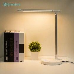 Led Schreibtisch Lampe Business büro licht Touch control Augenschutz Licht Dimmer USB Ladung Führte Tisch Lampe 10W 5 farben temperatur