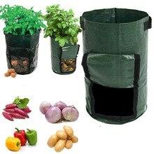 Завод 2шт растут мешки дом и сад картофеля чугунка тепличного овощеводства мешки увлажняющий вертикальный сад сумка рассады сумки