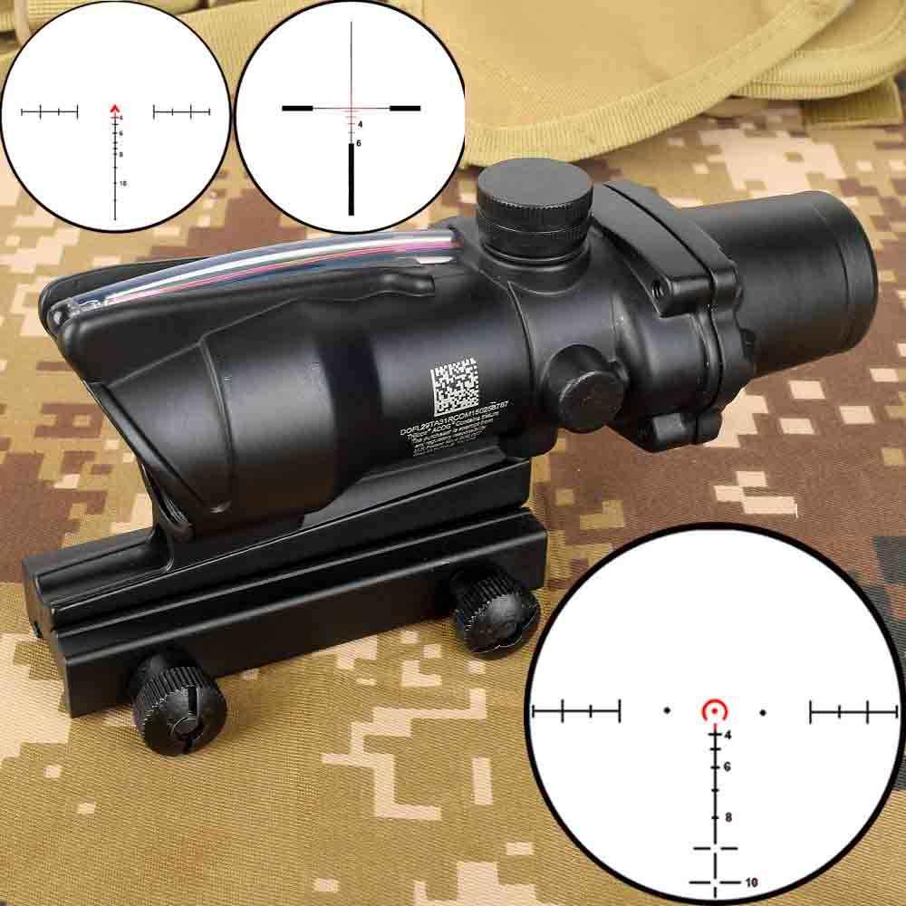 الصيد 4X32 أكو نطاق الألياف الحقيقية BDC شيفرون حدوة الحصان شبكاني مشاهد بصرية تكتيكية ل كال. 223 .308