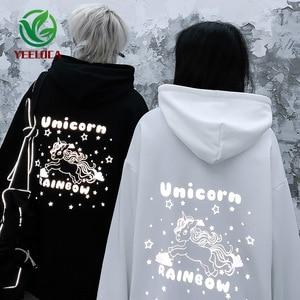 Image 2 - 2019 autunno Inverno Nuovo 3M Riflettente Anime Tianma Con Cappuccio Paio di Grandi Dimensioni Cotone di Tendenza di Modo di Disegno Felpa Hip Hop Degli Uomini