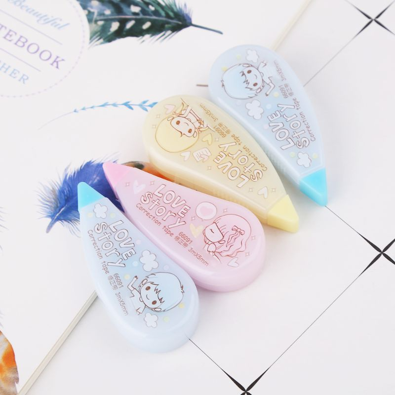 2pcs Kawaii Girl Roller Correction Tape White Out Student Office School Supplies