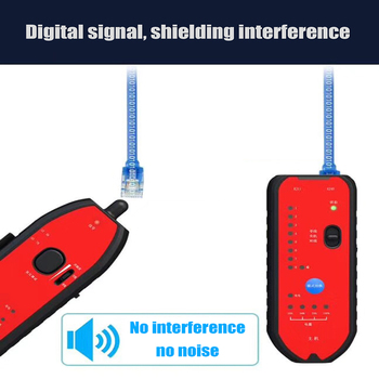 Hi-tech smart RJ11 RJ45 Cat5 Cat6 Telephone Wire Tracker LAN Network Cable Tester Network Detector Tool network cable testing diagnostic tool kit set rj45 rj11 ethernet lan cable tester voltage detector punch tool wire tracker