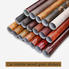цена на Waterproof Wood Grain Vinyl Film Glossy Car Interior Sticker Wood Universal Car Motor Phone PVC Wood Grain Stickers Wallpaper