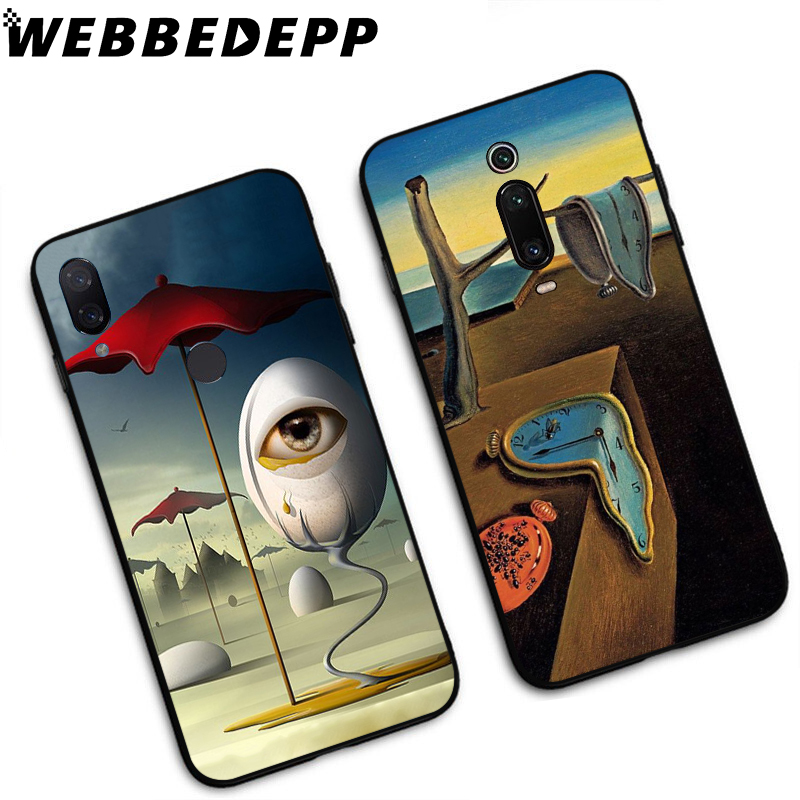 WEBBEDEPP Salvador Dali Printing Soft TPU Case for Xiaomi Mi 6 8 A2 Lite 6 9 A1 Mix 2s Max 3 F1 9T A3 Pro CC9E Cover in Fitted Cases from Cellphones Telecommunications