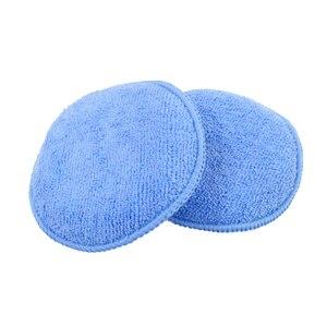 "Image 5 - 10pcs Car Waxing Polish Soft Microfiber Foam Sponge Applicator Cleaning Detailing Pads 5"""