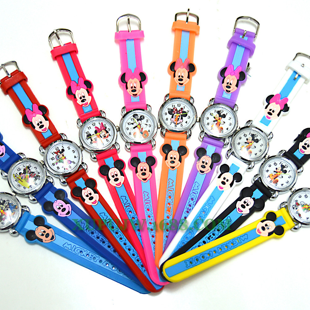 Mickey Mouse Cartoon Quartz Watch Silicone Fashion Children's Watch No Waterproof  Fashion & Casual  Kids Watches Boys Silicone