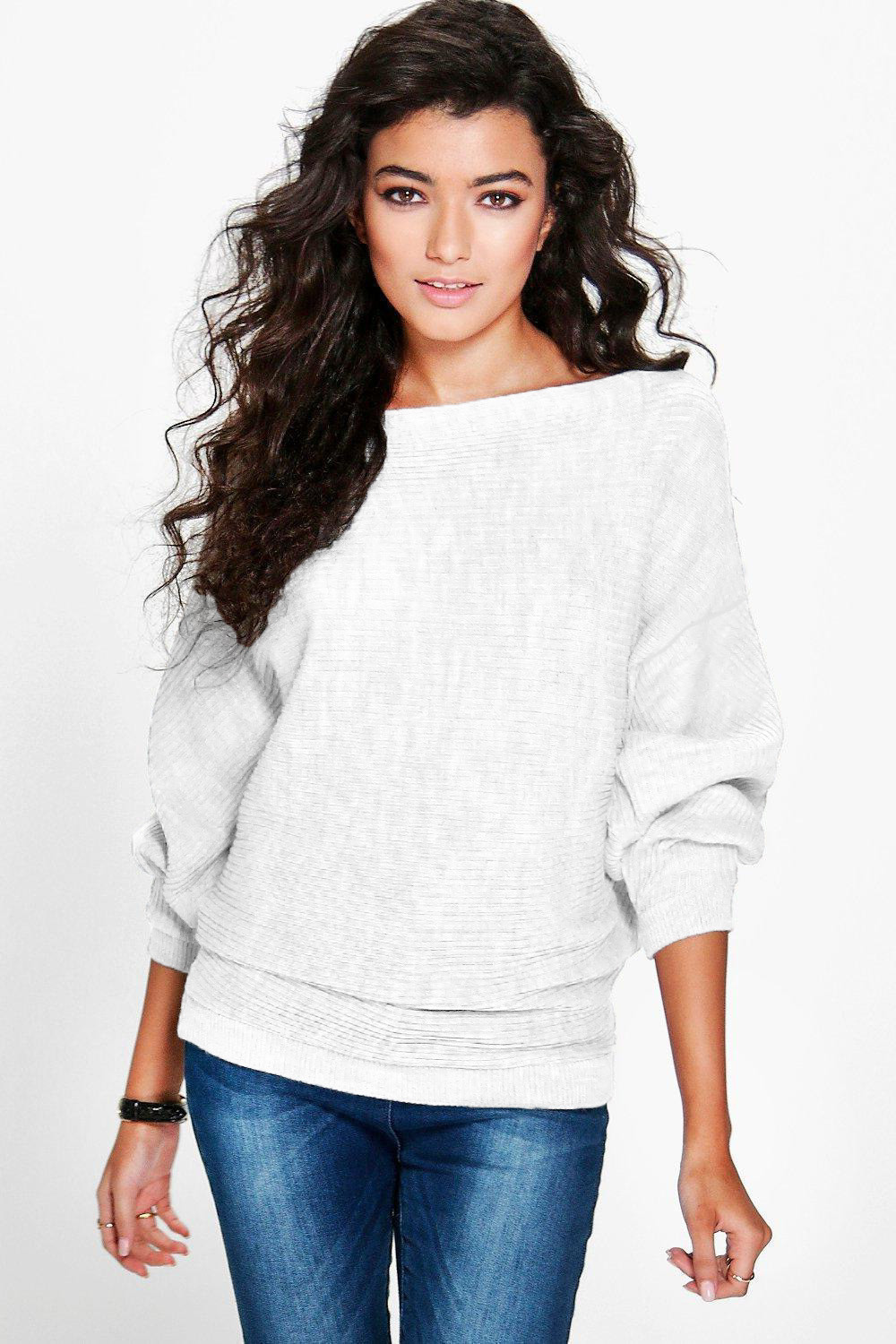 Jaycosin Fashion Casual Lady Long Sleeve Batwing Sweater Stylish Comfortable Elegant Soft Solid Color Jumper Tops Knitwear