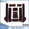 Anti-SLIP สำหรับ Skoda Yeti 2009 2010 2011 2012 2013 2014 2015 2016 2017 Yeti อุปกรณ์เสริมประตู coaster Anti-สกปรกประตู