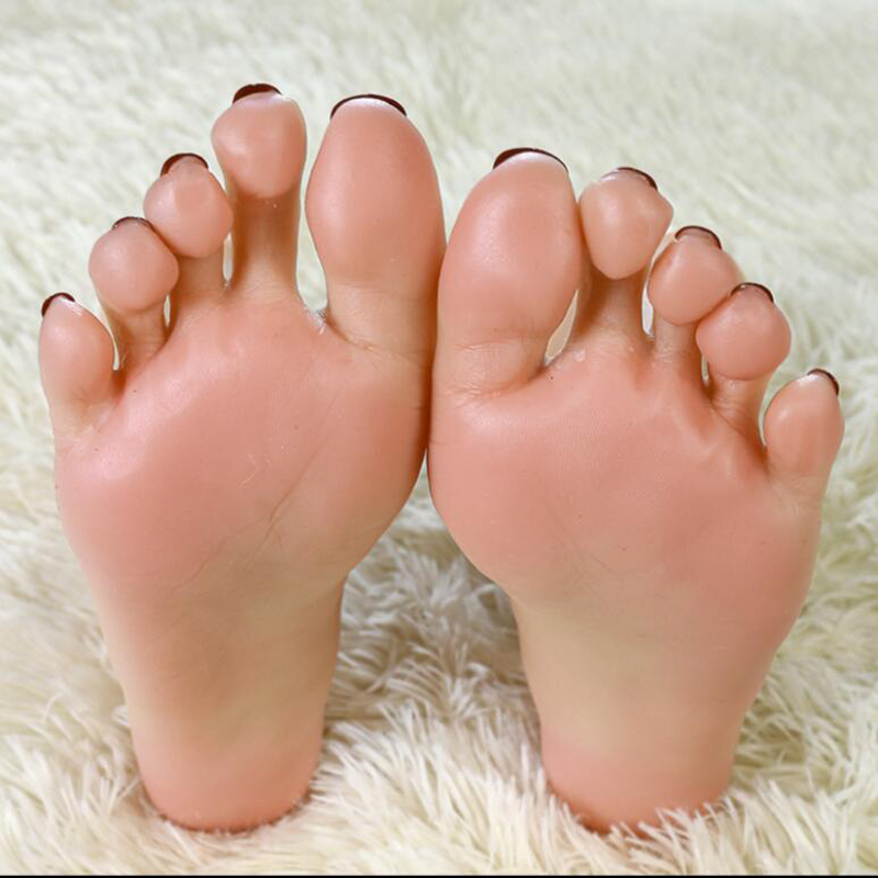 lifelike <font><b>silicone</b></font> <font><b>sex</b></font> <font><b>dolls</b></font> Realistic One Pair <font><b>Silicone</b></font> Female Mannequin Dummy Foot ,Fake Feet Model,Display model Foot fetish image