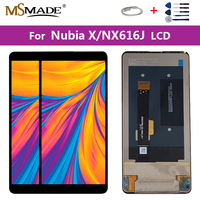 Original 6.01 For ZTE Nubia X Display NubiaX NX616J LCD Display Touch Screen Digitizer Assembly Repair Parts Free Shipping