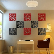 Curtain Partition Divider Hanging-Screen Panel-Room Home-Decoration Black/red Bird-Flower