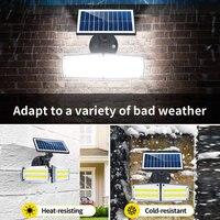 80LED Solar Light Dual Head Solar Lamp PIR Motion Sensor Spotlight Waterproof Outdoor Adjustable Angle For Garden Wall Beloved O