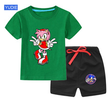 Baby Boys Girls Kids Clothes Suit Summer Cotton T-shirt Shorts Set Sport  2PCS Outfit Costume Children Clothing Tracksuit baby boy girls clothes set summer cartoon printed t shirt tops shorts 2pcs toddler kids costume cotton boys clothing suit 0 7y