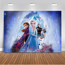 Frozen 2 Birthday Princess Photography Background Elsa Children Baby Ice cream winter Backdrop Photocall Backdrop Photo Studio(China)