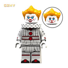 Horror Movie Film It Pennywise Clown LeGoeingly MIniFigured Beverly Chosen George Jacobs Bricks Building Blocks Toys Gifts XP093(China)