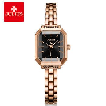 2018 neue Relogio Feminino Luxus Kristall Uhr Edelstahl Band Armband Frauen Uhren Julius Damen Casual Uhr JA-1064